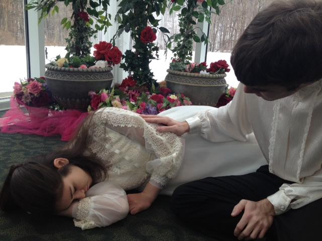 In photos: Brett Heidinger as Romeo, Lauren Rebholz as Juliet